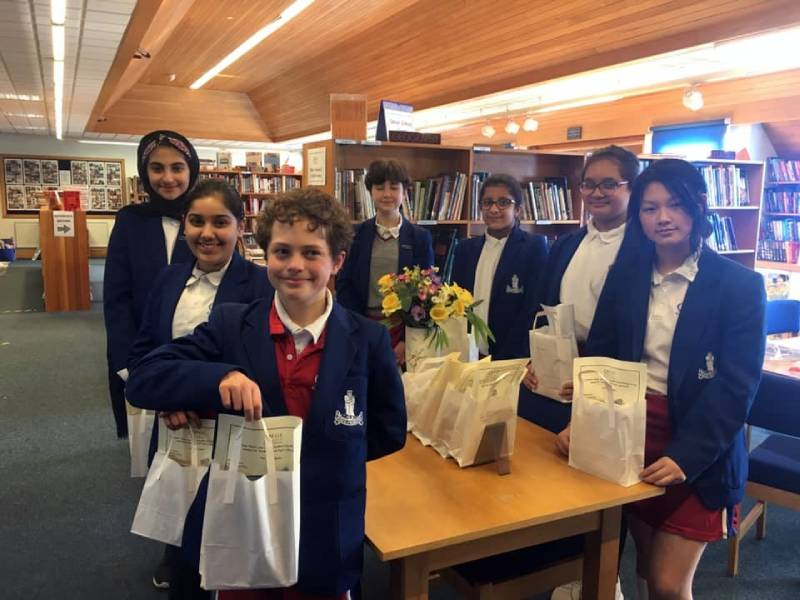 Year 8 pupil librarians